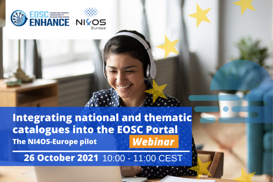 Webinar - Integrating national and thematic catalogues into the EOSC Portal: the NI4OS-Europe pilot