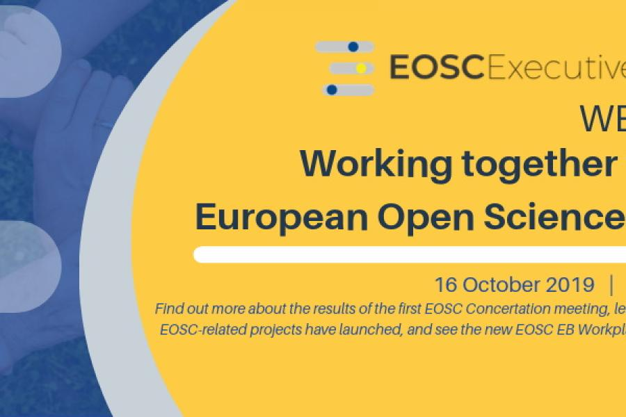 EOSC Webinar - Working Together for the EOSC