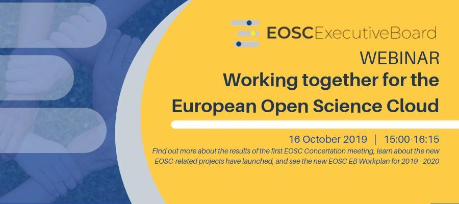 EOSC Webinar - Working Together for the EOSC